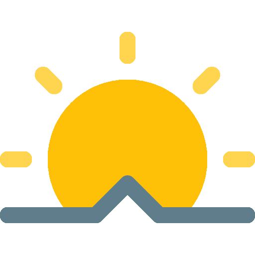 Sunrise Icon Weather Pixel Perfect