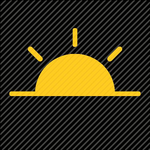 Morning, Sun, Sunrise, Sunset, Weather Icon