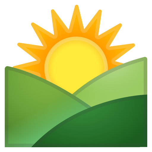 Sunrise Over Mountains Icon Noto Emoji Travel Places Iconset