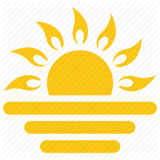 Half Sun, Solar Sun, Sun, Sunrise, Sunset Icon