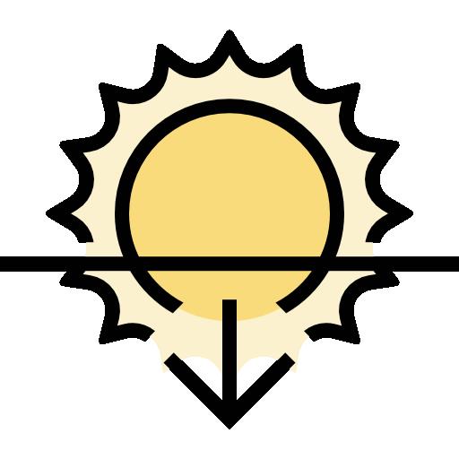 Sunset Icon Weather Set Freepik
