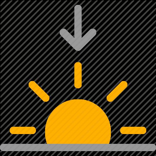 Down, Dusk, Set, Setting, Sun, Sunset, Weather Icon