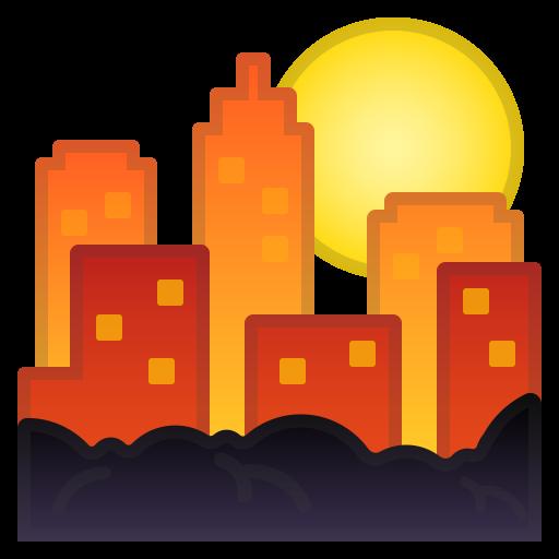 Sunset Icon Noto Emoji Travel Places Iconset Google