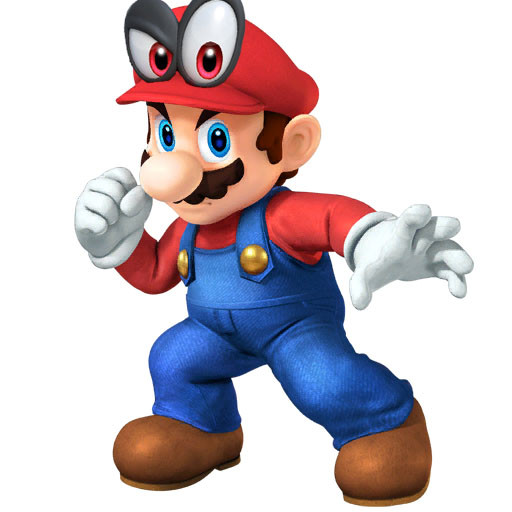 Mario Cappy Portrait Super Smash Bros