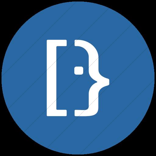 Flat Circle White On Blue Social Media Super User Icon