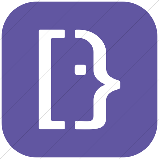Flat Rounded Square White On Purple Social Media Super