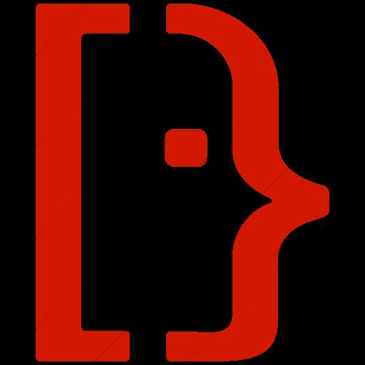 Simple Red Social Media Super User Icon