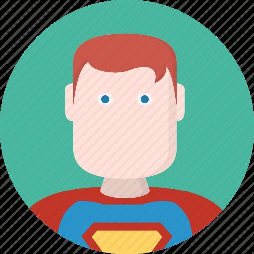 Avatar, Hero, Men, Superman Icon