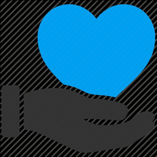 Hand, Handshake, Health, Healthcare, Heart, Love, Support Icon