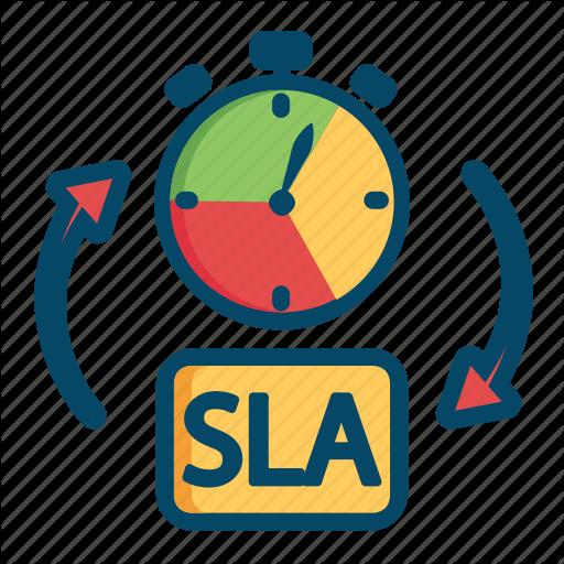 Agreement Helpdesk Level Service Sla Support Time Icon Logo Image