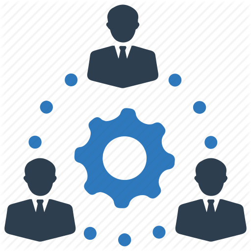 Gear, Group, People, Process, Productivity, Support, Team Icon