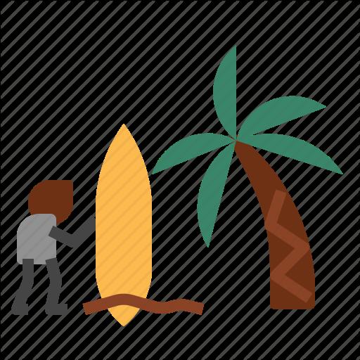 Beach, Board, Surfboard Icon