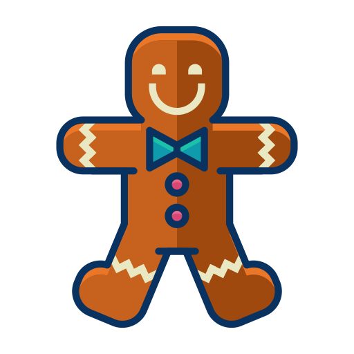 Man, Cookie, Christmas, Dessert, Gingerbread, Sweet Icon