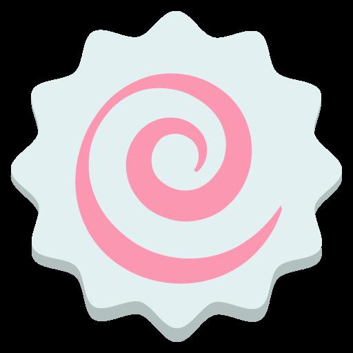 Fish Cake With Swirl Emoji Vector Icon Free Download Vector