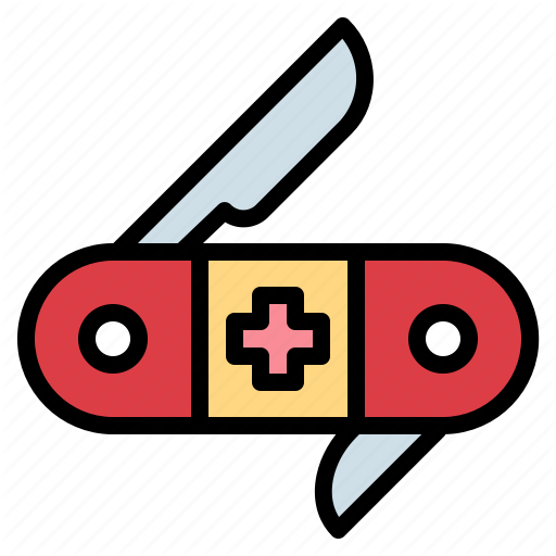 Army, Blade, Equipment, Knife, Swiss, Utensils Icon