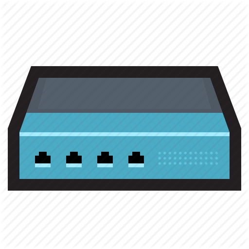 Connection, Hub, Modem, Network, Router, Switch Icon