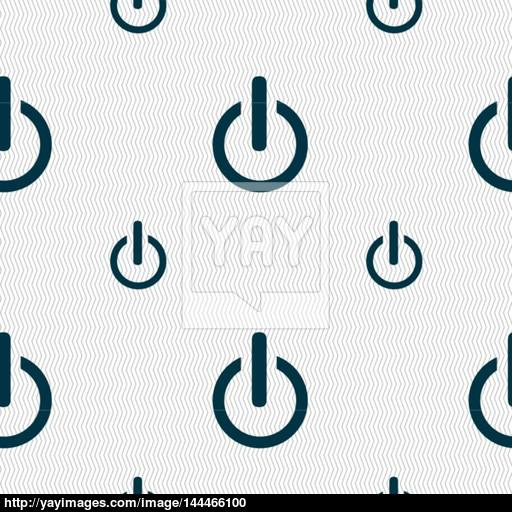 Power Sign Icon Switch Symbol Seamless Pattern With Geometric