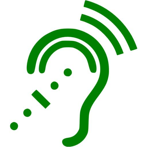 Green Assistive Listening System Icon