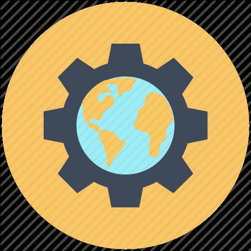 Gears, Globe, Optimization, Options, Preferences, Setting