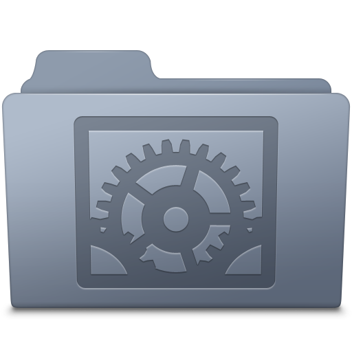 System Preferences Folder Graphite Icon Smooth Leopard Iconset