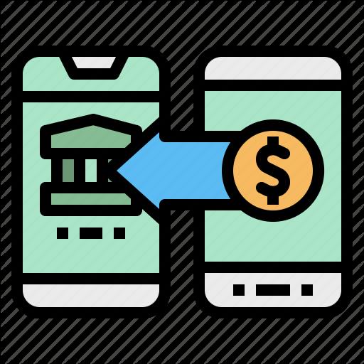 Bank, Mobile, Money, T Icon