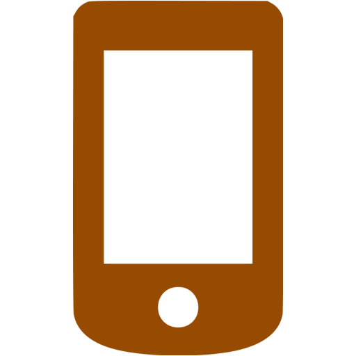 Brown Mobile Phone Icon