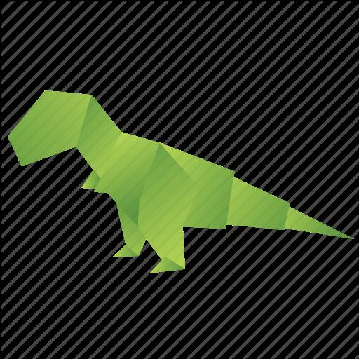 Animals, Classic, Dinosaur, Origami, Paper, T Rex Icon