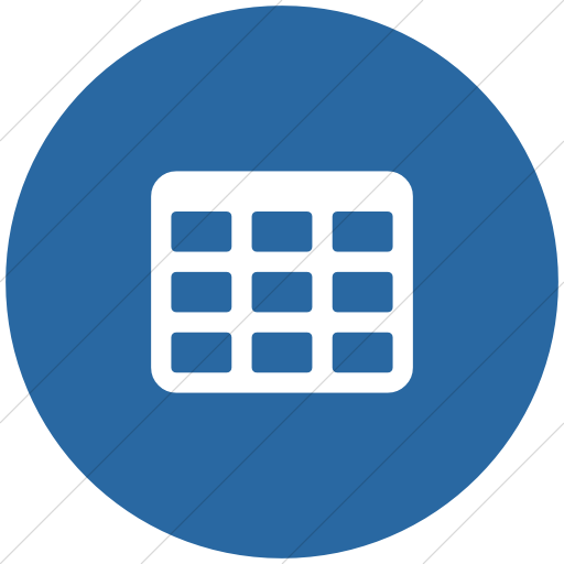 Flat Circle White On Blue Bootstrap Font Awesome Table Icon