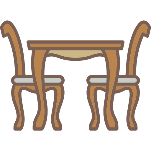 Antique, Chairs, Table Icon