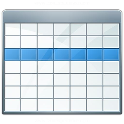 Iconexperience V Collection Table Selection Row Icon