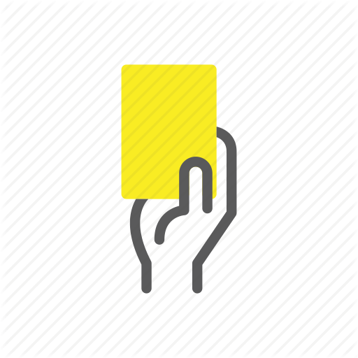Card, Soccer, Soccer Icon, Sports, Warning, Yellow, Yellow Card Icon