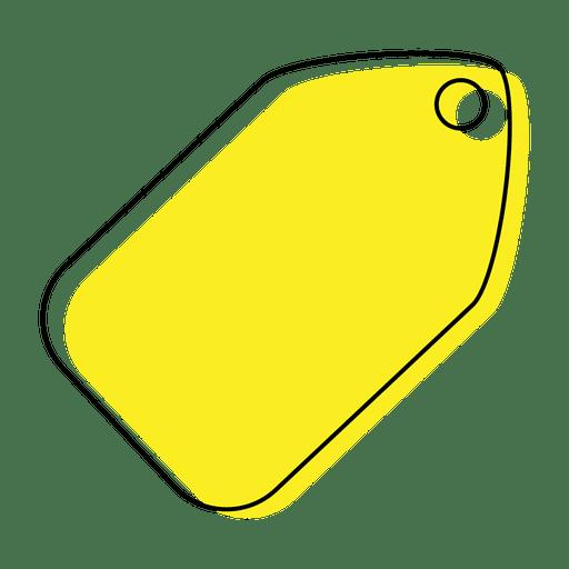 Yellow Tag Icon