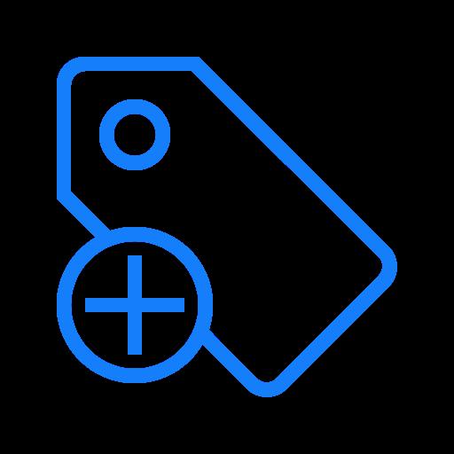 Tag, Add Icon