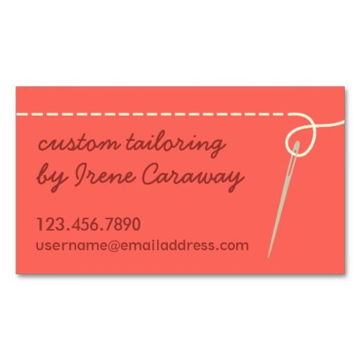 Dressmaking Alterations Sewing Business Card Tailor Business