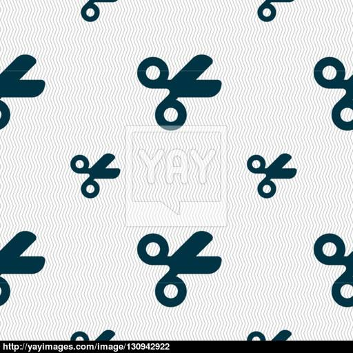 Scissors Hairdresser, Tailor Icon Sign Seamless Pattern