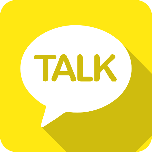 Kakao, Talk Icon Free Of Social Media Chamfered Corne