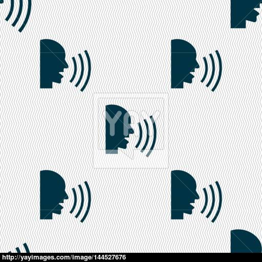 Talking Flat Modern Web Icon Seamless Abstract Background
