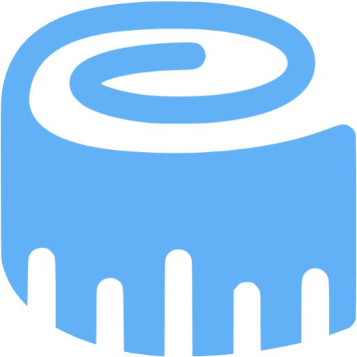 Tropical Blue Tape Measure Icon