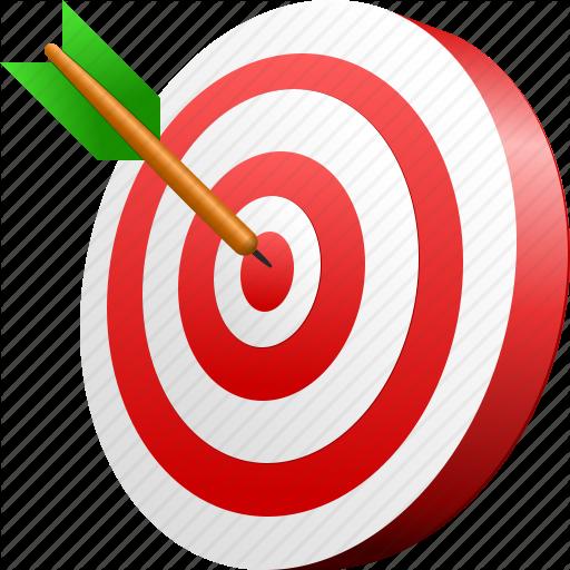 Aim, Arrow, Goal, Target Icon