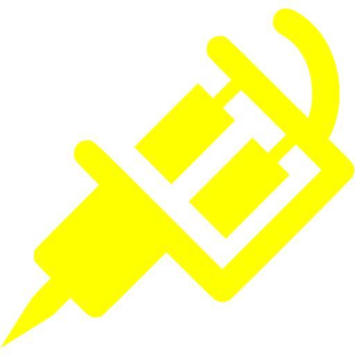 Yellow Tattoo Machine Icon