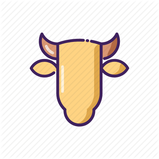Animal, Horoscope, Line, Taurus, Thin, Zodiak Icon