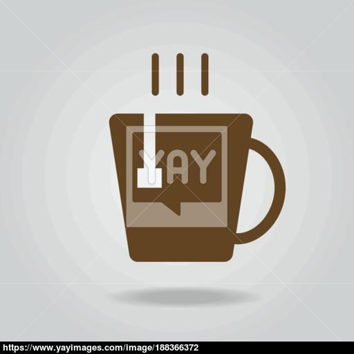 Hot Tea Cup Icon Vector Vector