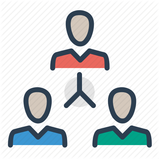 Hierarchy, Leader, Management, Team Building Icon