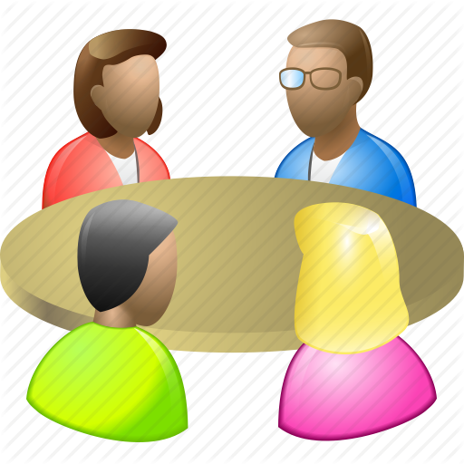 People Meeting Icon Images