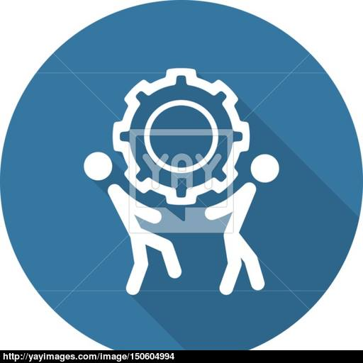 Technical Support Icon Flat Design Vector