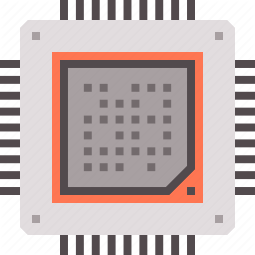 Chip, Data, Device, Encryption, Hardware, Processor Icon