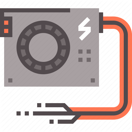 Computer, Power, Psu, Supply, Unit Icon