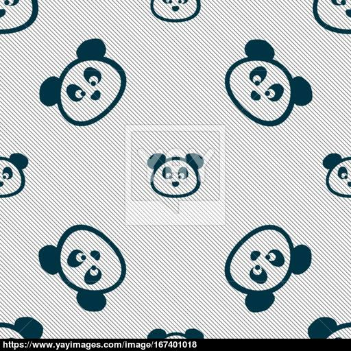Teddy Bear Icon Sign Seamless Pattern With Geometric Texture