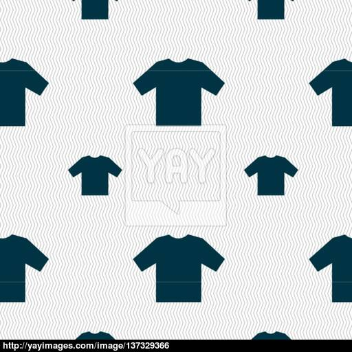 T Shirt Icon Sign Seamless Pattern With Geometric Texture Vector
