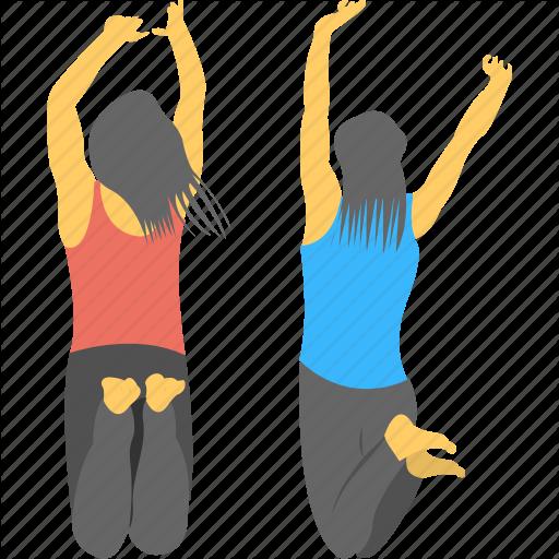 Fitness, Girls, Joy, Jumping, Teenage Icon